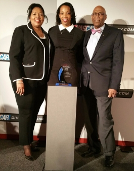 Chloe Kerr NASCAR Diversity Awards_Mom_Dad